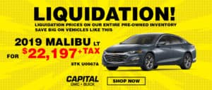 Liquidation prices on entire pre-owned inventory