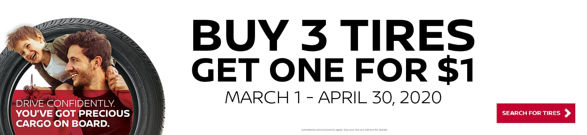 Nissan Buy 3 Tires Get One For $1 Offer
