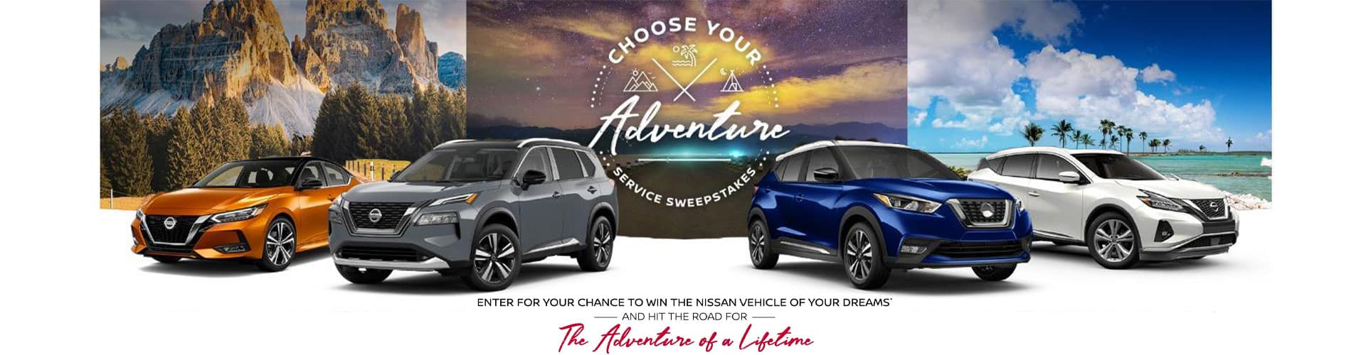 Choose Your Adventure Service Sweepstakes