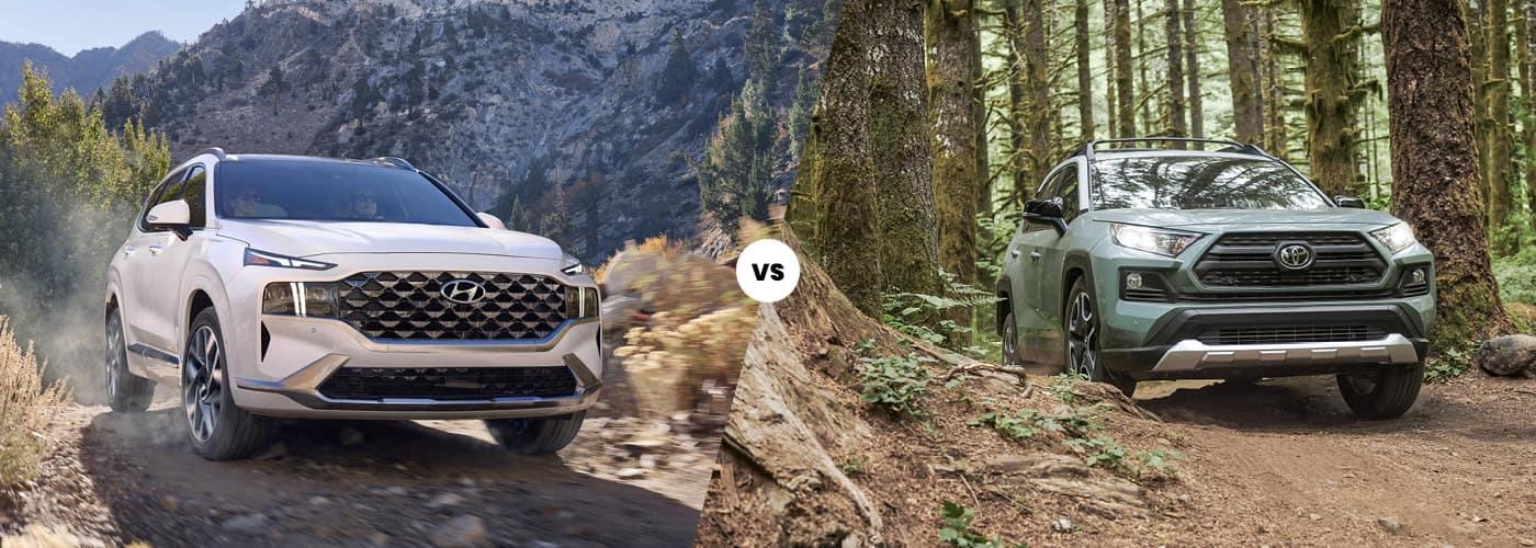 2021 Hyundai Santa Fe vs. 2021 Toyota RAV4