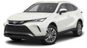 A white 2021 Toyota Venza is angled left.