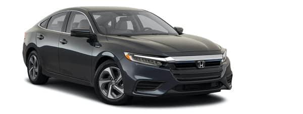 A dark gray 2021 Honda Insight is angled right.