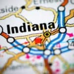 A close up shows a road map that includes your Indiana County Toyota dealer.