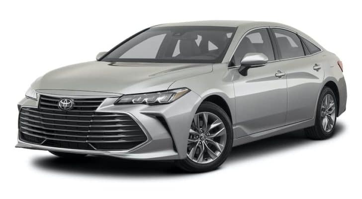 A silver 2021 Toyota Avalon XLE is angled left.