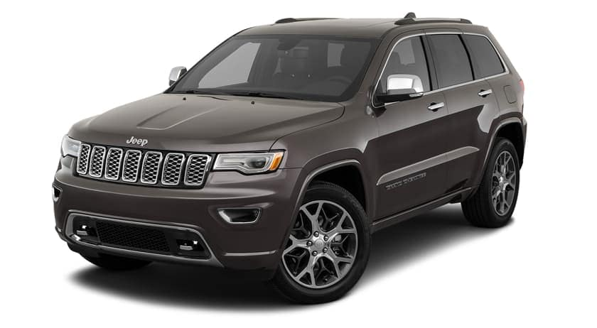 A brown 2020 Jeep Grand Cherokee is angled left on white, see one in Defiance, OH.