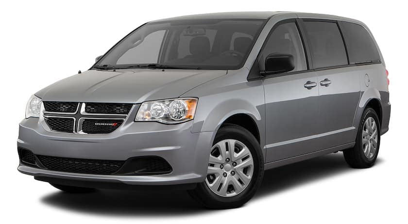 A grey 2020 Dodge Grand Caravan is angled left.