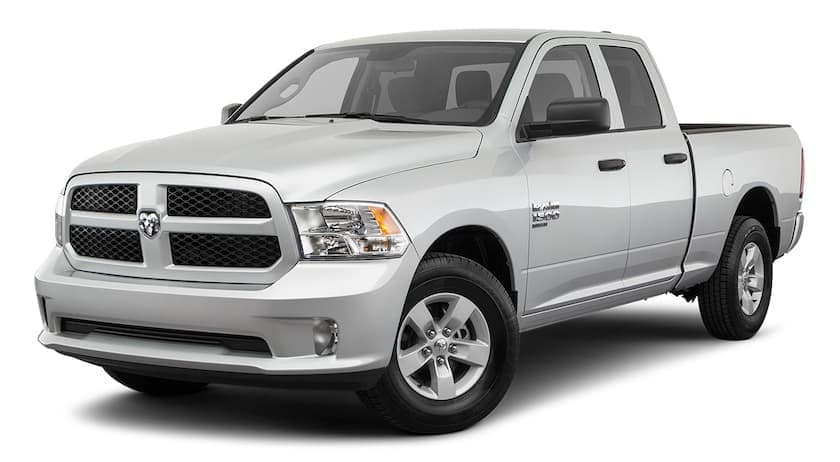 A silver 2020 Ram 1500 Classic is angled left.