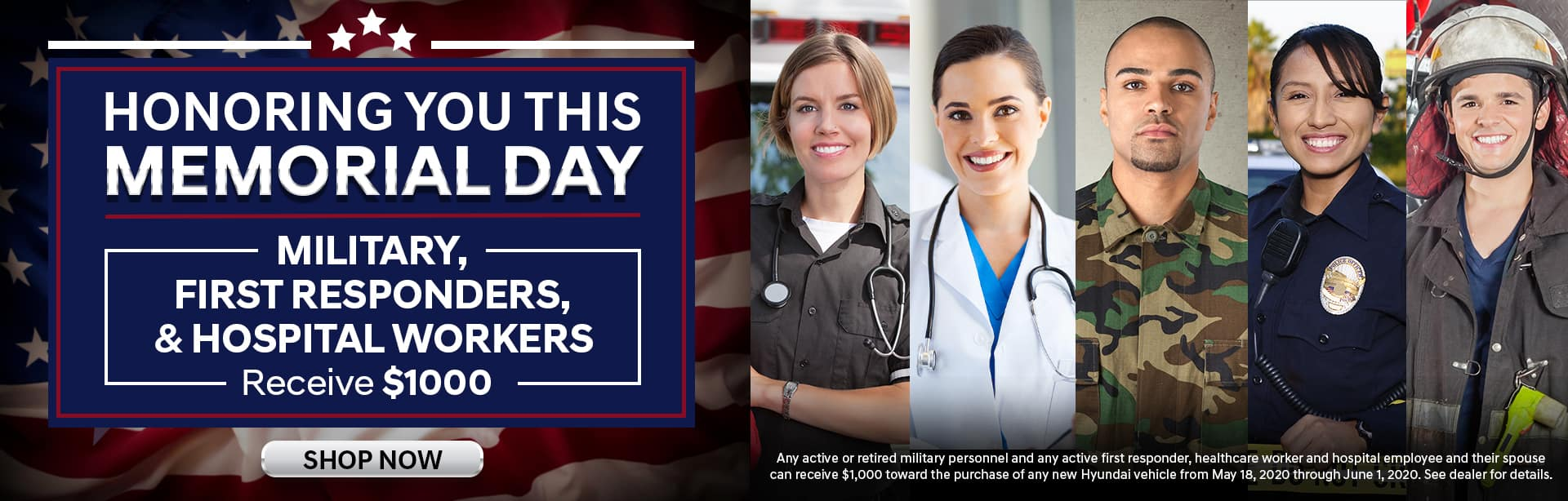 Memorial Day First Responder Offer at Ed Voyles Hyundai in Smyrna, GA