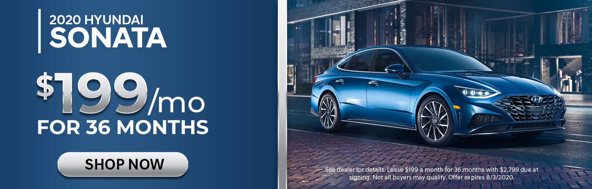 Lease 2020 Sonata for $199/mo