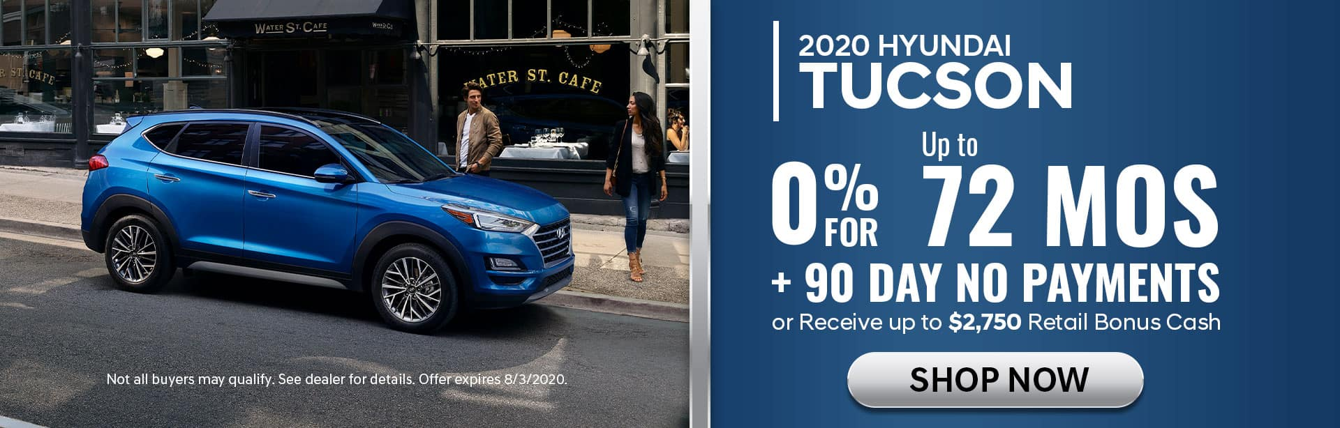 0% for 72 mos on 2020 Tuscon