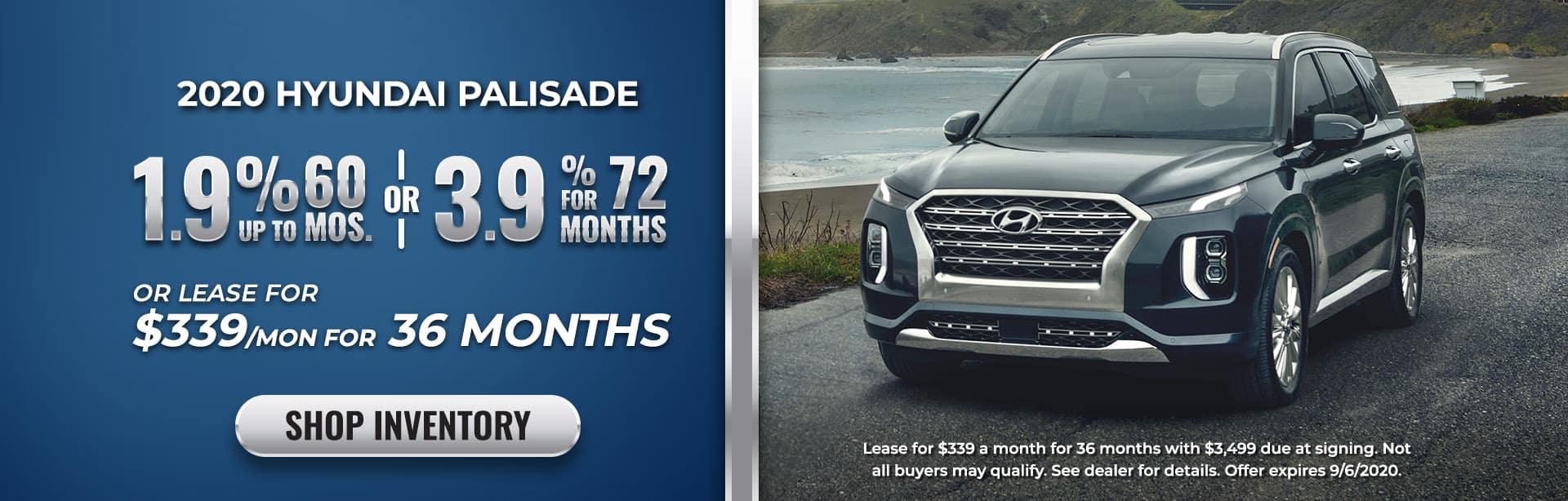 Lease of finance 2020 Palisade at Ed Voyles Hyundai of Smyrna, GA
