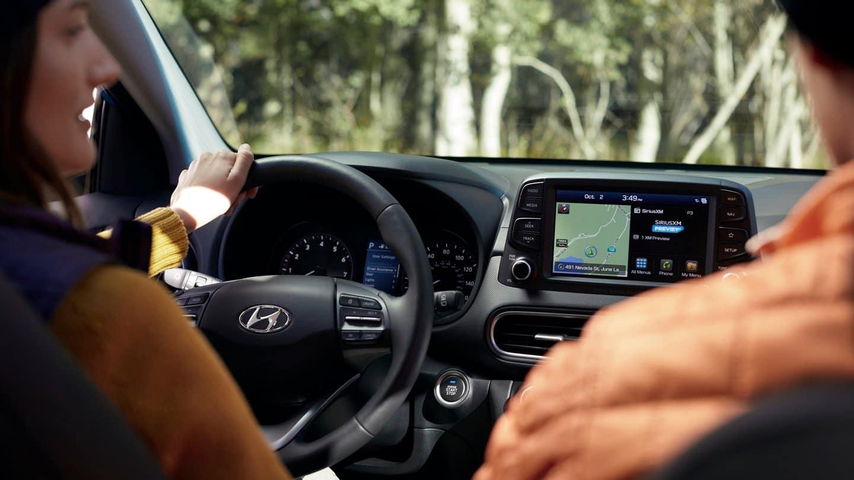 2021 hyundai kona interior steering wheel