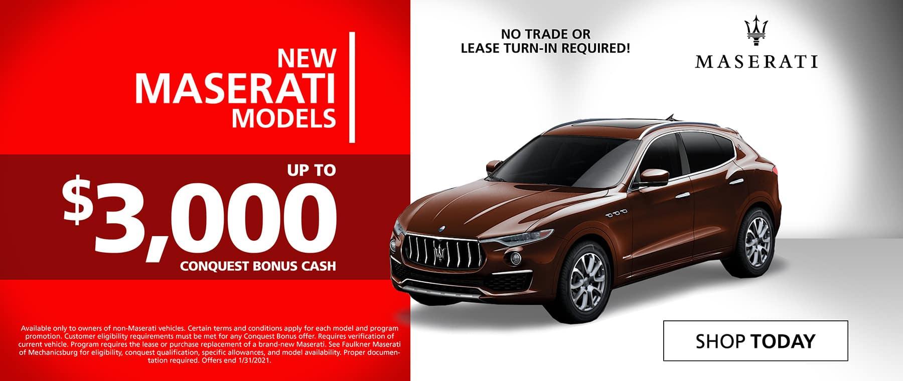 Maserati Conquest Bonus Cash