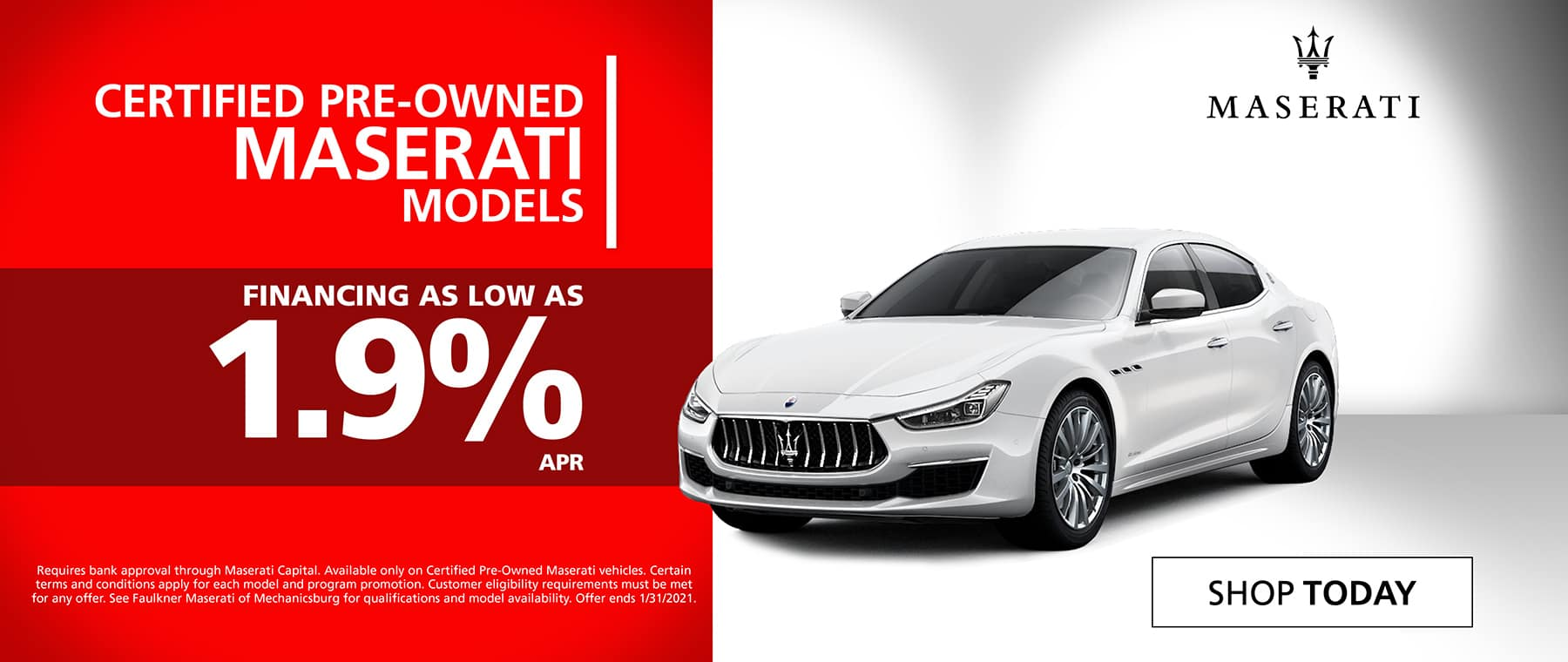 Shop Certified Pre-Owned Maserati