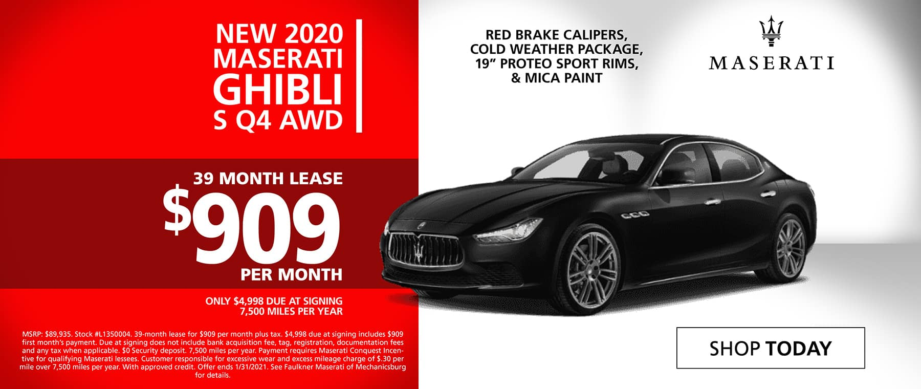 Shop New 2020 Maserati Ghibli