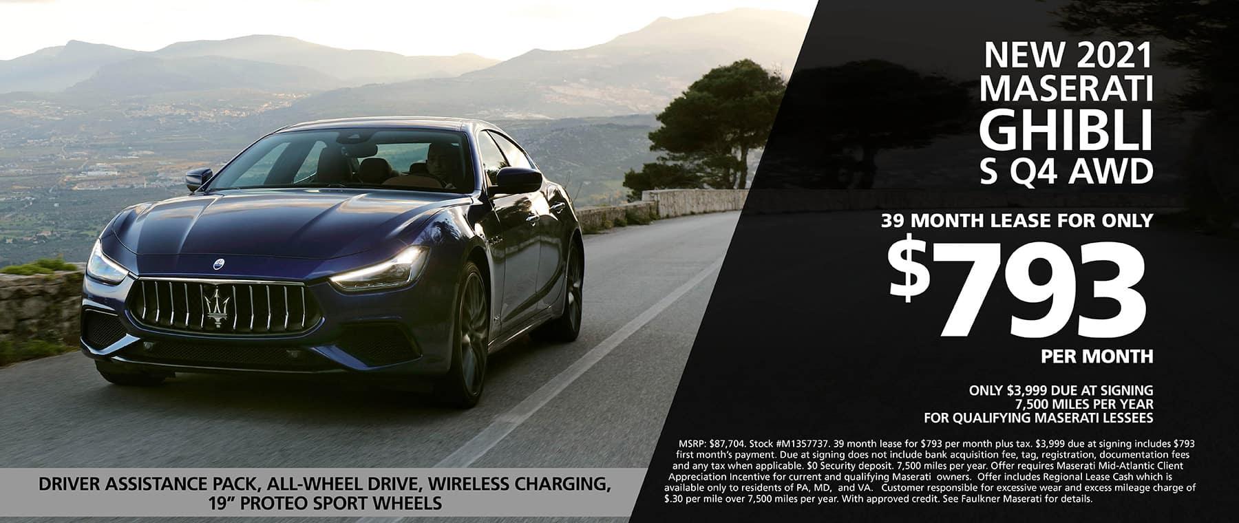 New 2021 Maserati Ghibli