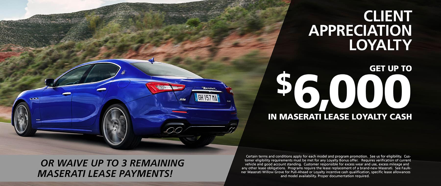 Shop Maserati Client Appreciation Loyalty