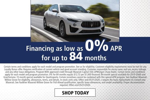 Finance a New Maserati