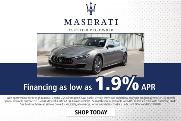 Finance a Certified Pre-Owned Maserati