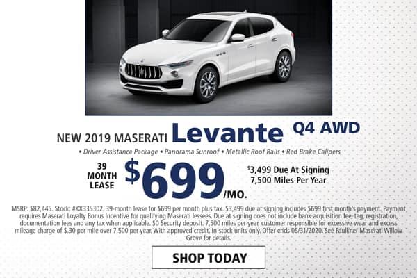 Lease a New 2019 Maserati Levante