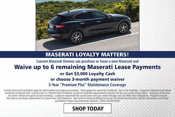 Maserati Lease Loyalty