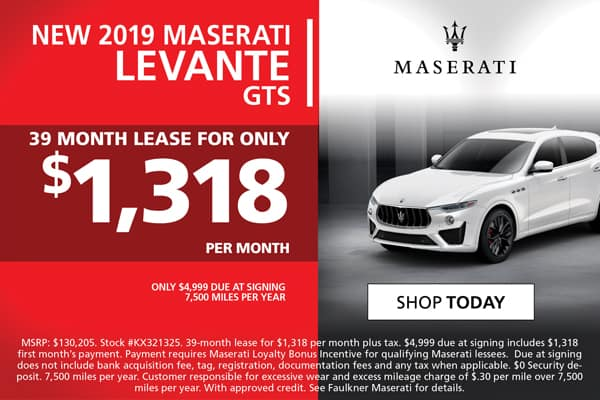 2019 Levante GTS Lease Special!