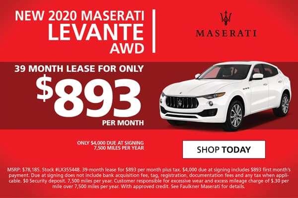 2020 Levante Lease Special!