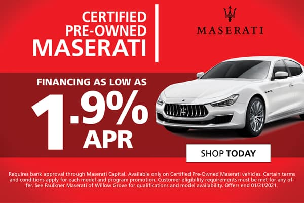 New Certified Pre-Owned Maserati