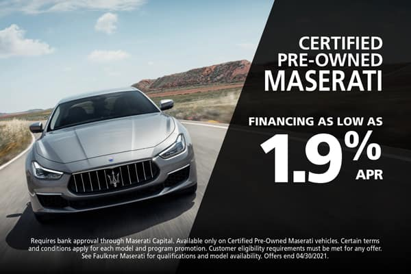 Certified Pre-Owned Maserati