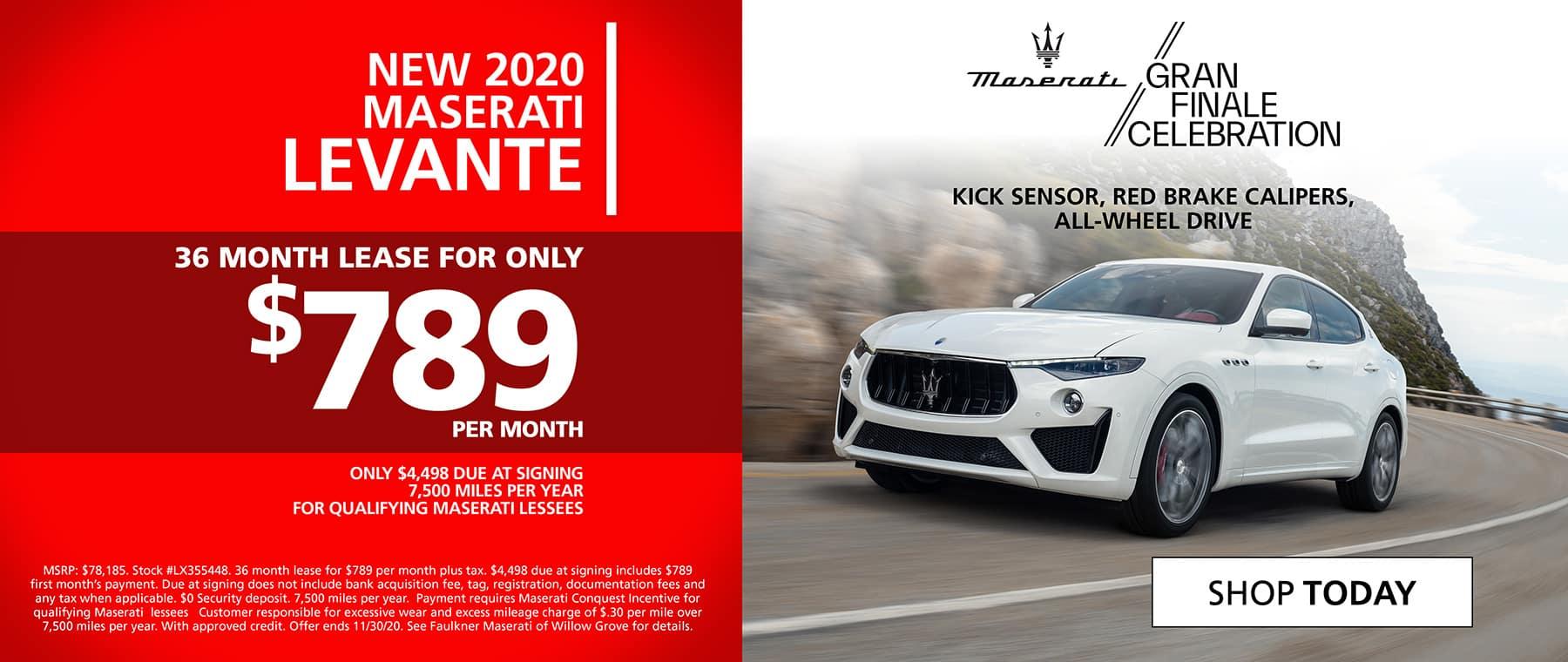 Shop New 2020 Maserati Levante
