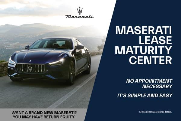 Maserati Lease Maturity Center