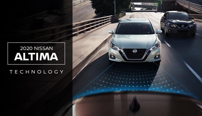 An exterior view of a silver 2020 Nissan Altima, available at Fiesta Nissan in Edinburg, TX