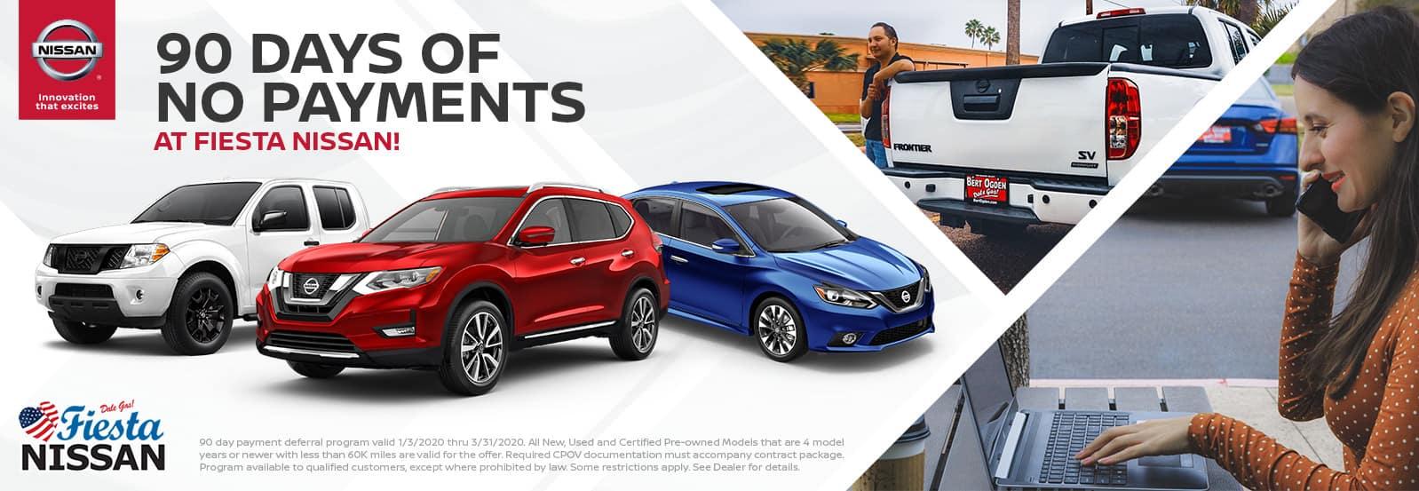 90 Days of No Payments at Fiesta Nissan in Edinburg, TX