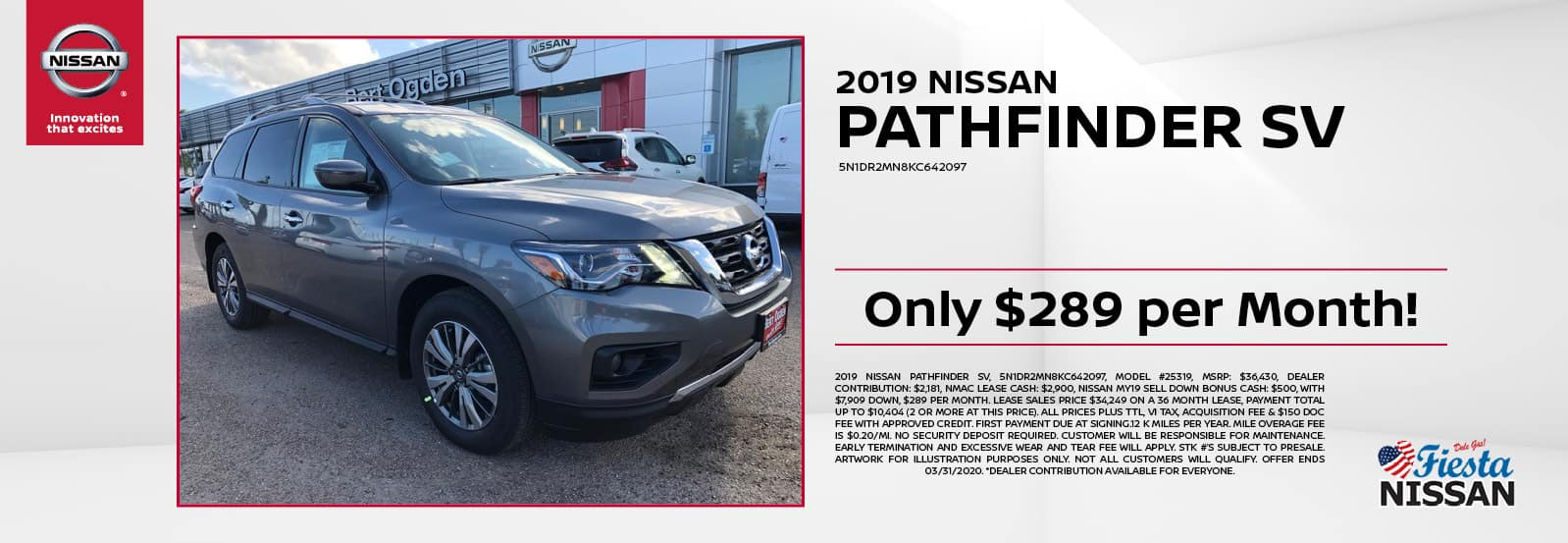 2019 Nissan Pathfinder SV at Fiesta Nissan in Edinburg, TX