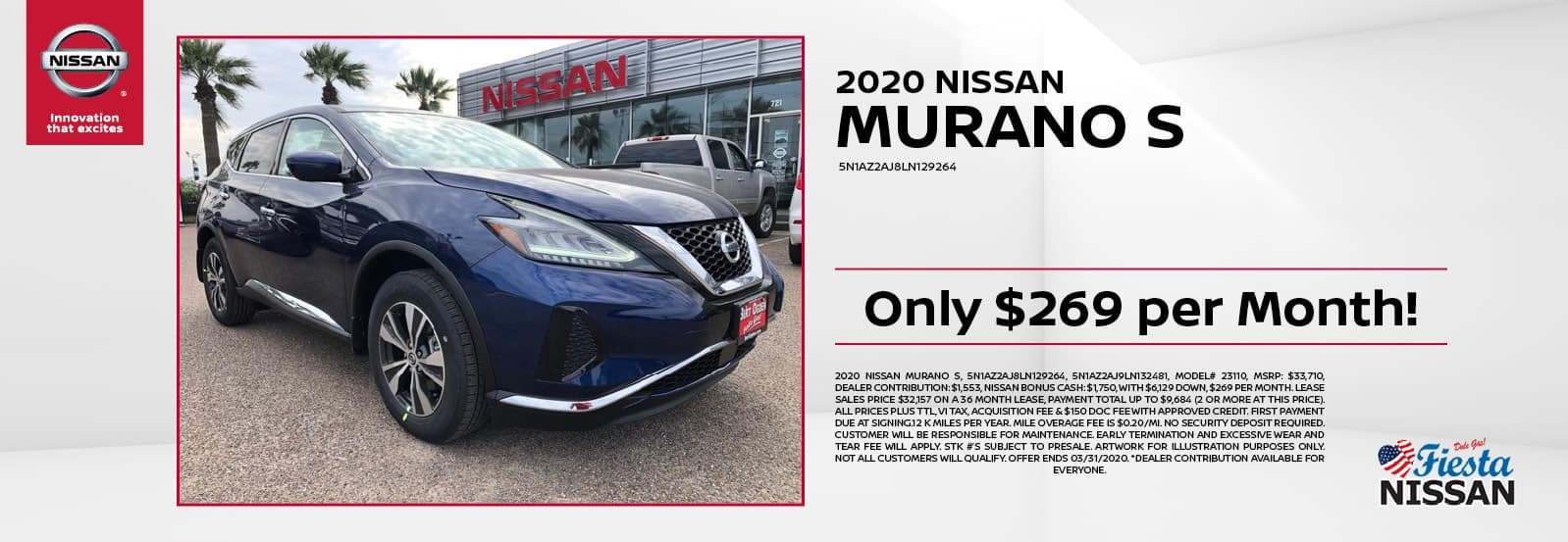 2020 Nissan Murano S at Fiesta Nissan in Edinburg, TX