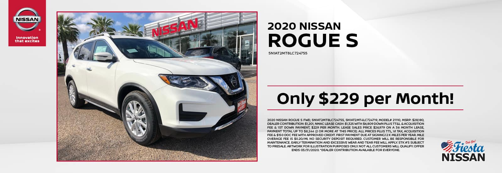 2020 Nissan Rogue S at Fiesta Nissan in Edinburg, TX