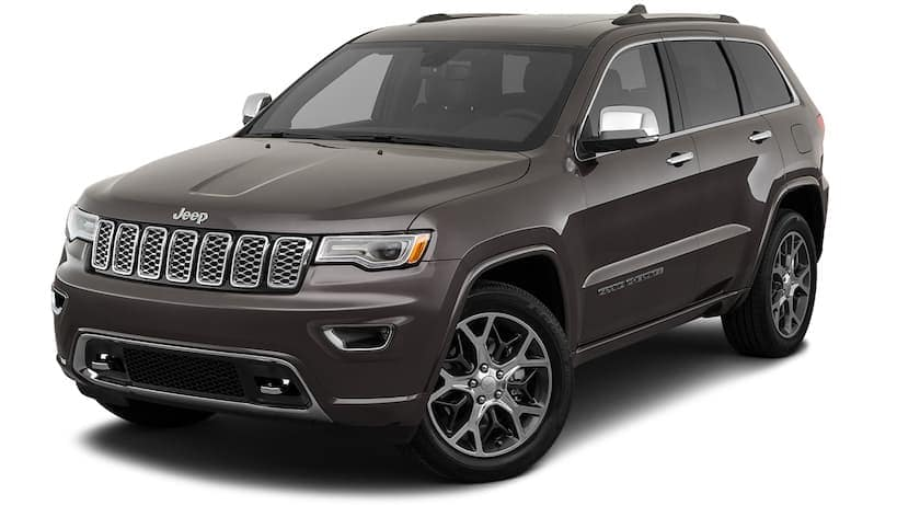 A gray 2020 Jeep Cherokee is angled left on a white background.