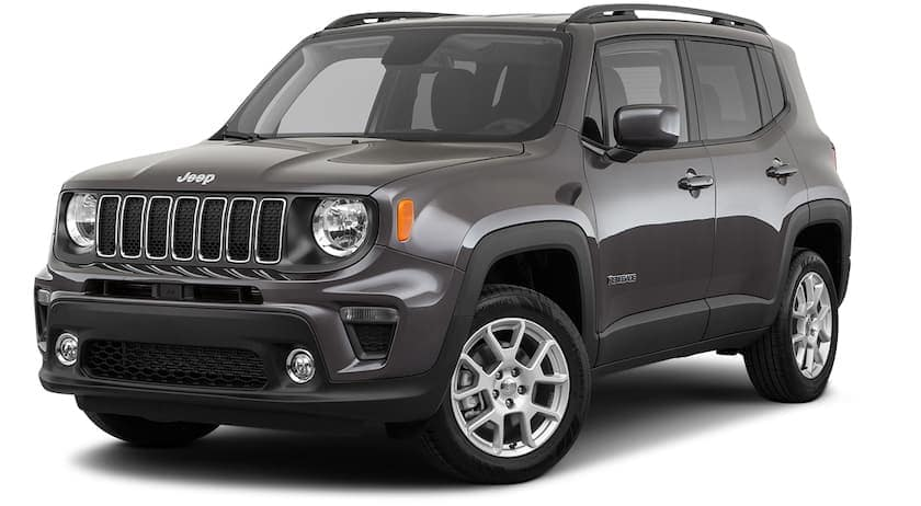 A gray 2020 Jeep Renegade is angled left.