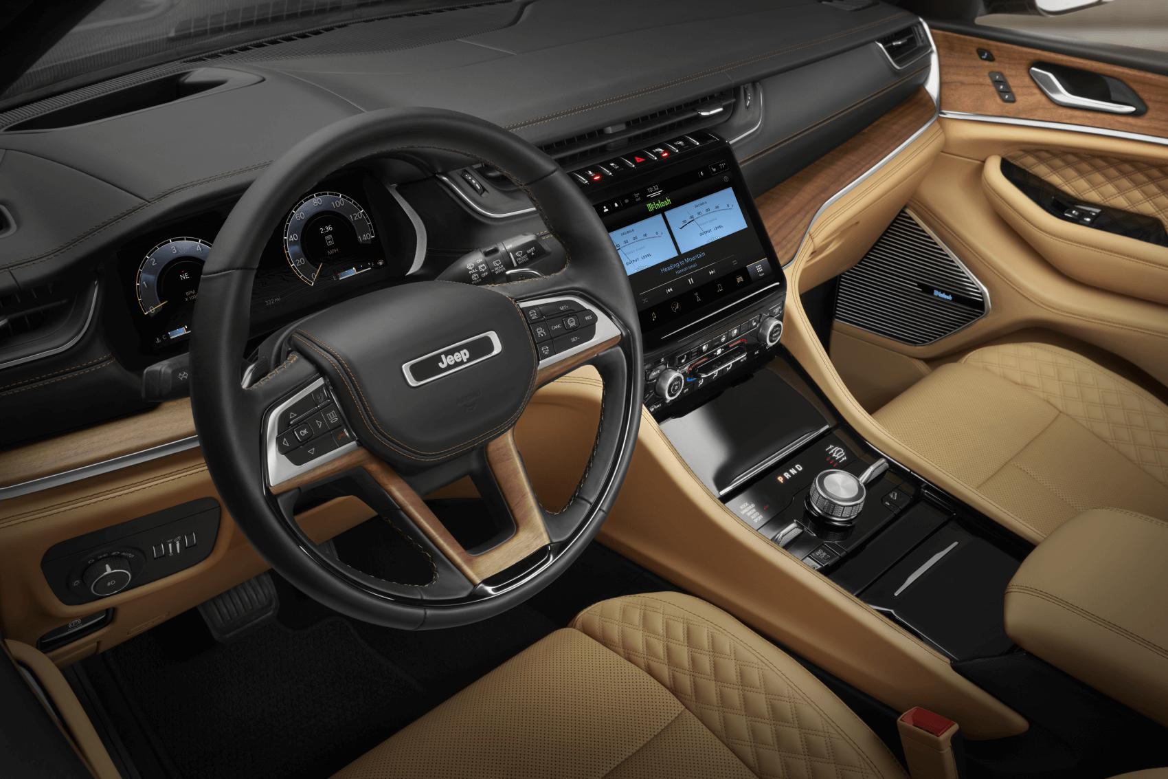 2021 Jeep Grand Cherokee L Summit Reserve Interior Dashboard Tech Findlay CDJR
