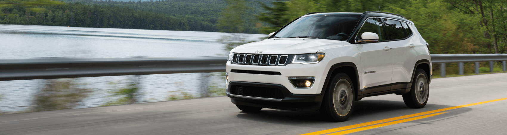 2021 Jeep Compass Limited Pearl White Mountain Road Findlay CDJR