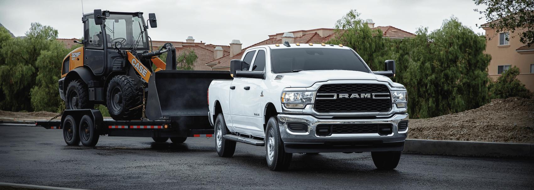 2021 Ram 2500 White Towing