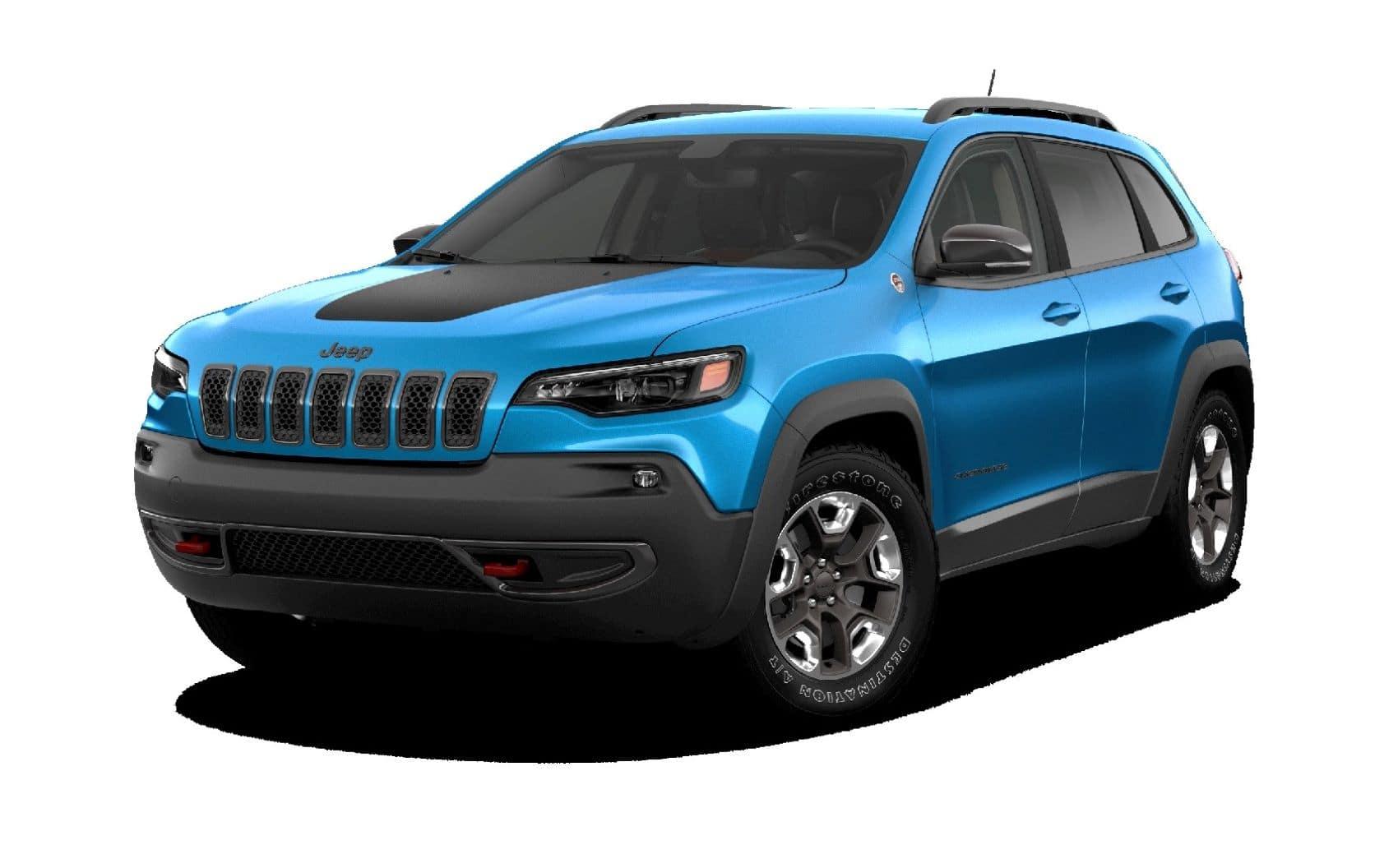 Hydro Blue Jeep Cherokee SUV