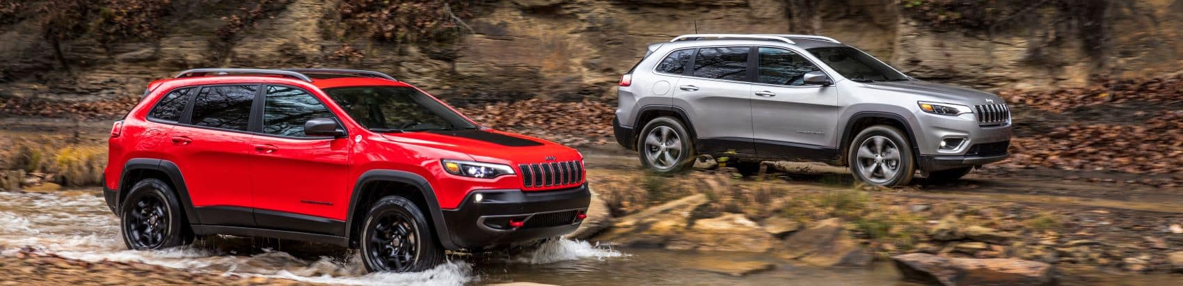 Two Jeep Cherokees off-roading