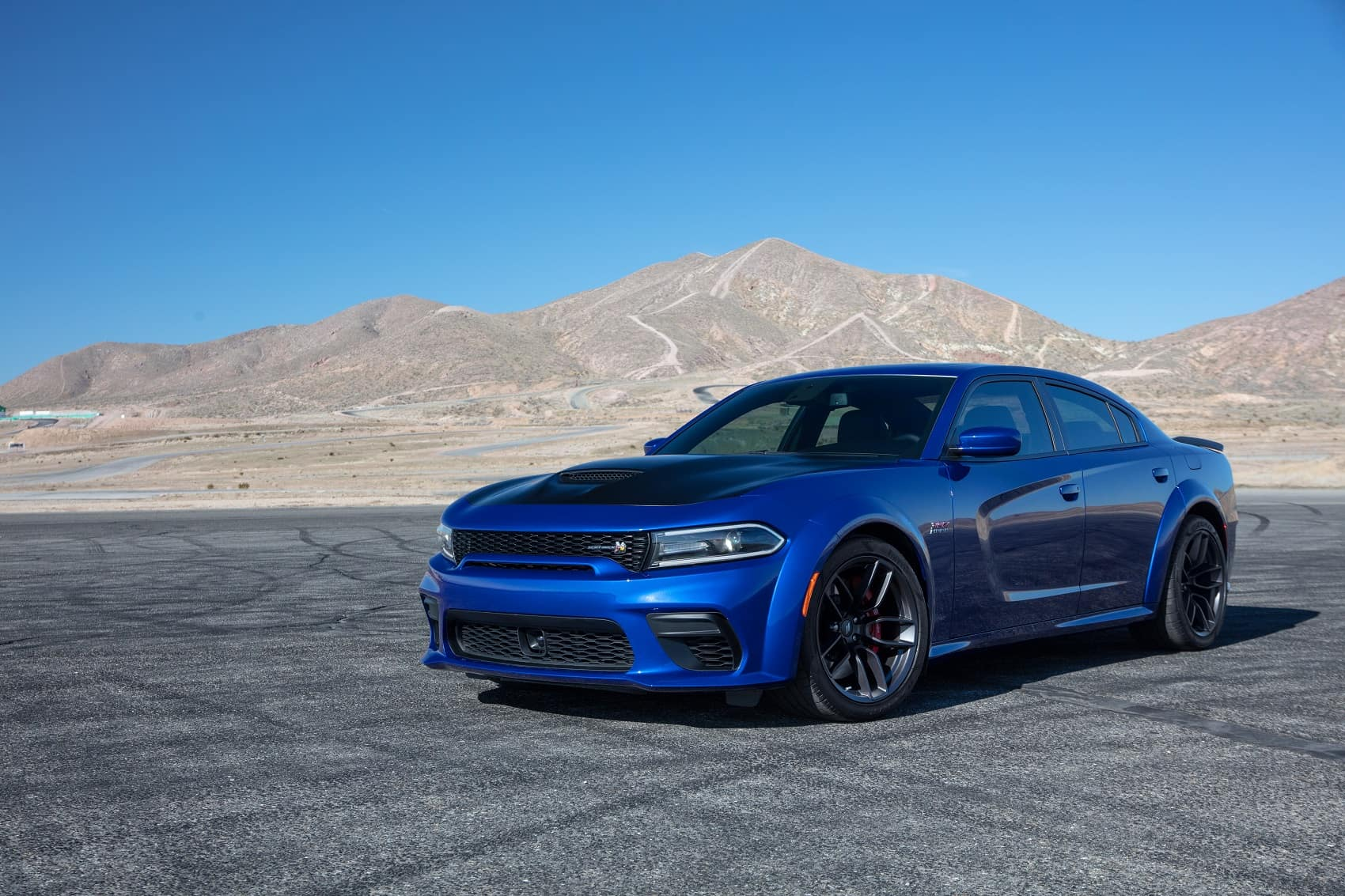 Dodge Charger widebody in front of western mountains