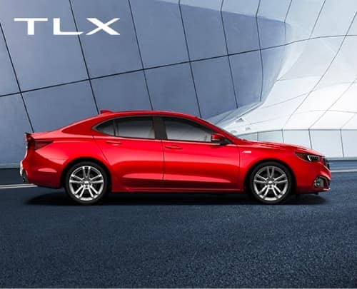 Red 2020 Acura TLX