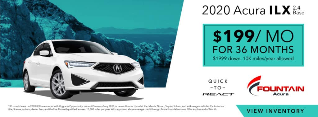 Lease A 2020 Acura ILX 2.4 Base From $199/mo!