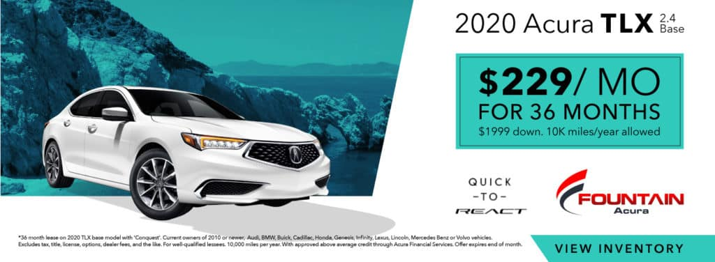 Lease A 2020 Acura TLX 2.4 Base From $229/mo!