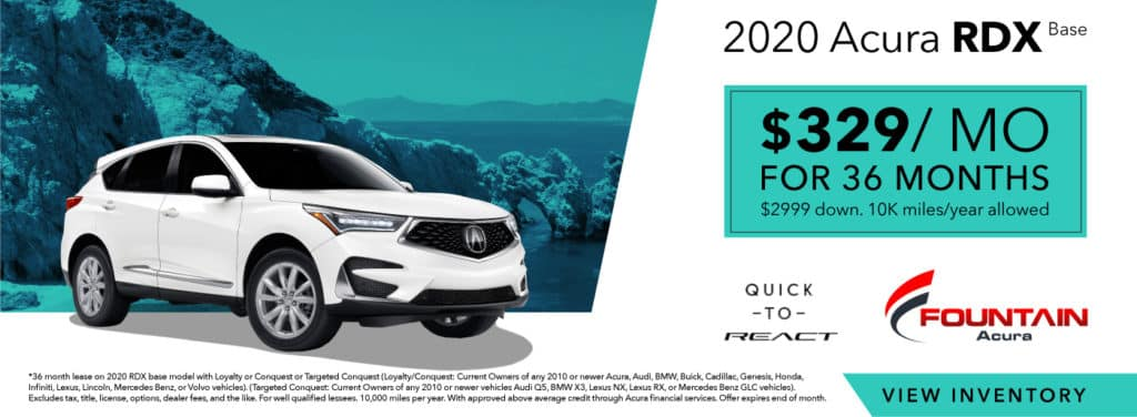 Lease A 2020 Acura RDX Base From $329/mo!