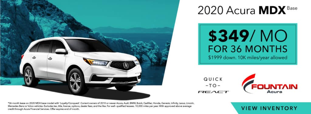 Lease A 2020 Acura MDX Base From $349/mo!
