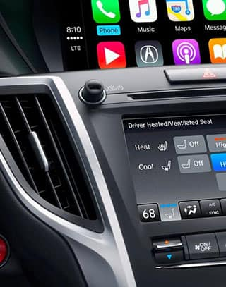 Close-up Acura touchscreen dashboard